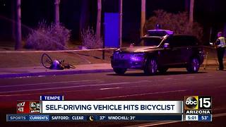 Self-driving Uber vehicle involved in Tempe crash - Video