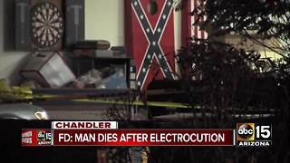 Chandler man dies after being electrocuted - Video