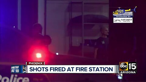 Police searching for two men who broke into Phoenix fire engine, fired shots at firefighters