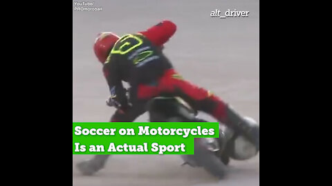 Soccer on Motorcycles Is an Actual Sport
