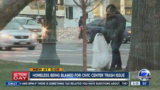 Some say litter from homeless at Denver's Civic Center Park becoming a problem - Video