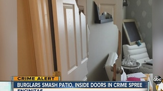Some Encinitas residents on edge after series of break-ins - Video
