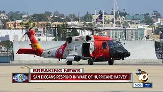 Selfless acts from San Diegans in the wake of Hurricane Harvey - Video