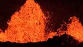 Fissure #22 And #20 Volcanic Eruption Big Lava Flows, Pahoa, Hawaii - Video