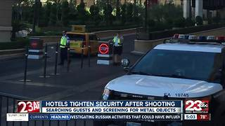 Las Vegas hotels tighten security following shooting - Video