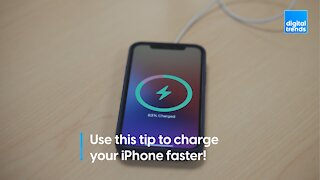 Use this trick to charge your iPhone faster!