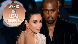 Kanye and Kim facing major legal drama - Video
