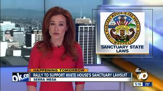 Rally to support White House's sanctuary lawsuit - Video