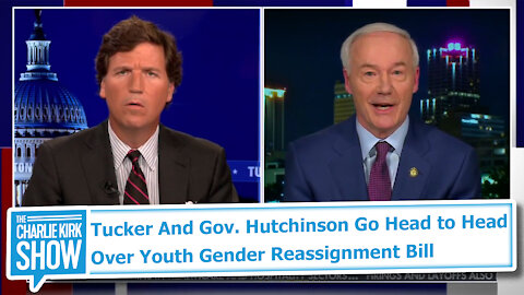 Tucker And Gov. Hutchinson Go Head to Head Over Youth Gender Reassignment Bill