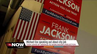 EXCLUSIVE: One-on-one with Micahel Cox after he took a leave of absence to work on Mayor's campaign - Video