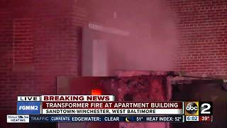 Apartment fire in West Baltimore leaves people stranded in the cold - Video