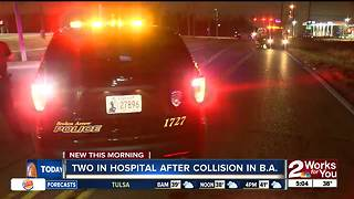 Two people in the hospital after accident in Broken Arrow - Video
