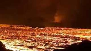 Lava River Seen 'Raging' in Hawaii on Its Way to Ocean - Video