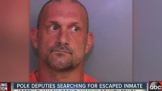 Polk County Deputies searching for escaped inmate - Video