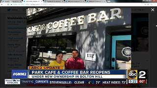 Park Cafe & Coffee Bar reopens under new ownership - Video