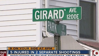 Five people wounded in two Middletown shootings - Video