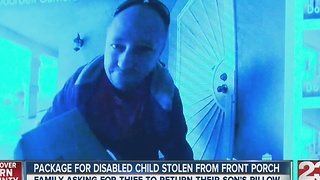 Package for disabled child stolen - Video
