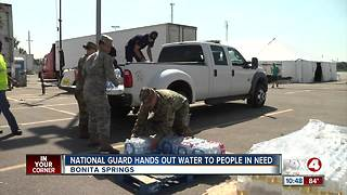 National Guard Hands Out Water to Irma Survivors - Video