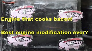 Man Cooks Bacon Inside Lawn Mower Engine - Video
