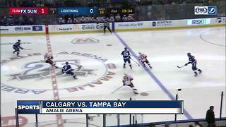 Calgary Flames torch NHL-leading Tampa Bay Lightning 5-1 for 5th straight win - Video