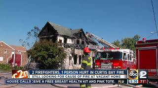 Fire at vacant home in Curtis Bay - Video