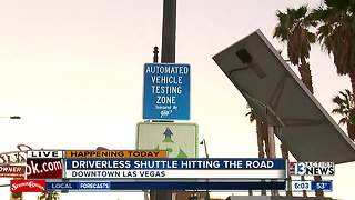 Driverless shuttle hitting streets in DTLV - Video