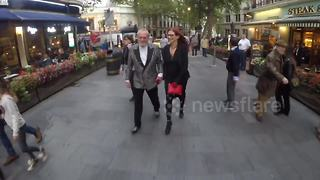 Terry Gilliam skirts protest over pay at London Film Festival - Video