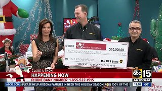 Operation Santa Claus collecting money, food, toys for kids