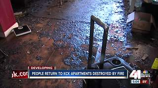 Survivors take stock after KCK apartment blaze - Video
