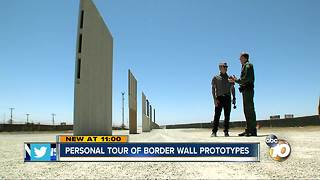 Personal tour of border wall prototypes - Video