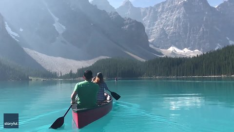 Canoeing On This Glacial Lake In Canada Is A Worthy Addition To Anybody's Bucket List