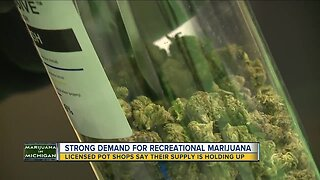 Strong demand for recreational marijuana in Michigan