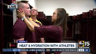 ASU researching effects of heat, sun on athletes - Video