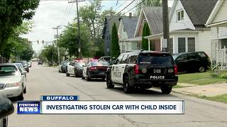 Investigating stolen car with child inside