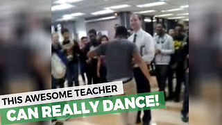 Dancing Teacher Shows Up Punk Student - Video