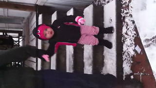 """Little Girl's First Snow Experience"""
