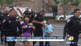 San Diego Police take students on shopping spree