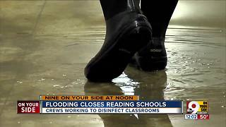 Reading Community Schools close because of flooding damage - Video