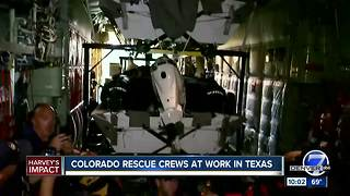 Colorado rescue crews hard at work in Texas - Video