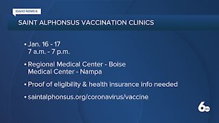 Saint Alphonsus COVID Vaccination Clinics