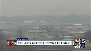 Delays reported after power outage at Atlanta airport