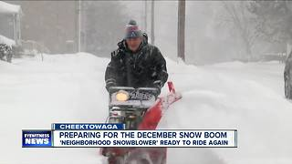 Good neighbor gears up for another winter - Video