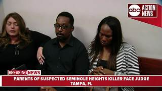 Parents of suspected Seminole Heights killer face judge - Video