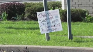 Once a fixture on a West Seneca corner, man leaves sign behind saying he's found a job