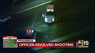 One injured in north Phoenix officer-involved shooting