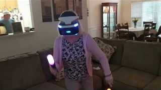 Enthusiastic Grandparents Play Virtual Reality Video Game - Video