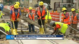 Streetcar construction temporarily delayed - Video