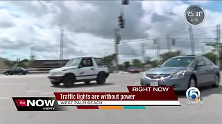 Many traffic lights are without power in South Florida - Video