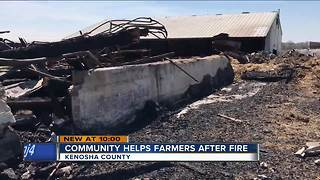 Fundraiser held for Wheatland farming family who lost barn in fire - Video