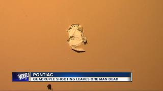 Sheriff's office investigating quadruple shooting in Pontiac that left 1 dead - Video